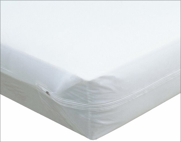zippered vinyl mattress protector, deluxe hospital grade