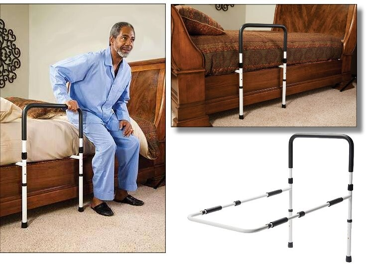 Bed Support Rail with Leg Extensions