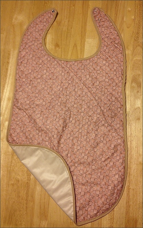Brushed Poly quilted adult bib