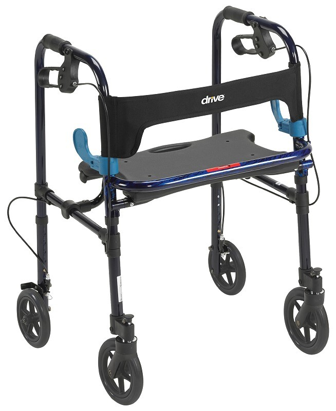 clever lite walker with 8 inch wheels