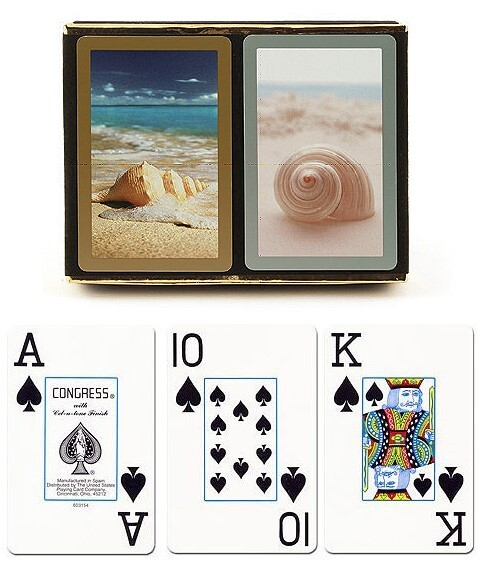 congress beach delight playing cards with large print