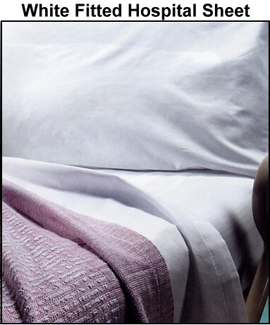 white fitted hospital sheet