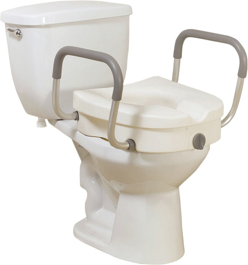toilet seat with removable arms