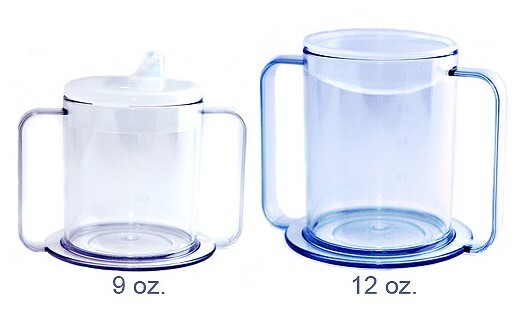 PSC Two Handle Clear Mug with 2 Lids