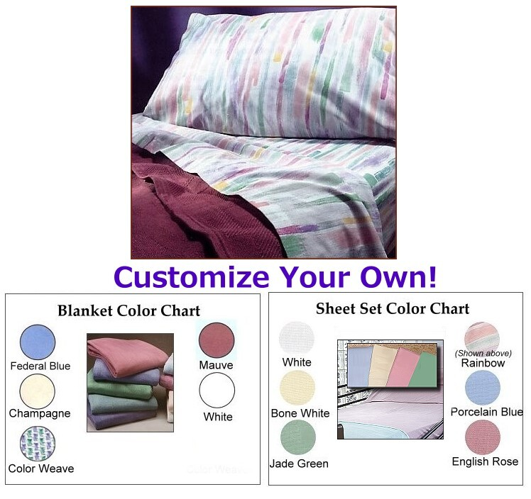 Bed in a Bag Hospital Sheet Set with Blanket