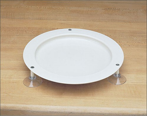 round up plate with suction cups