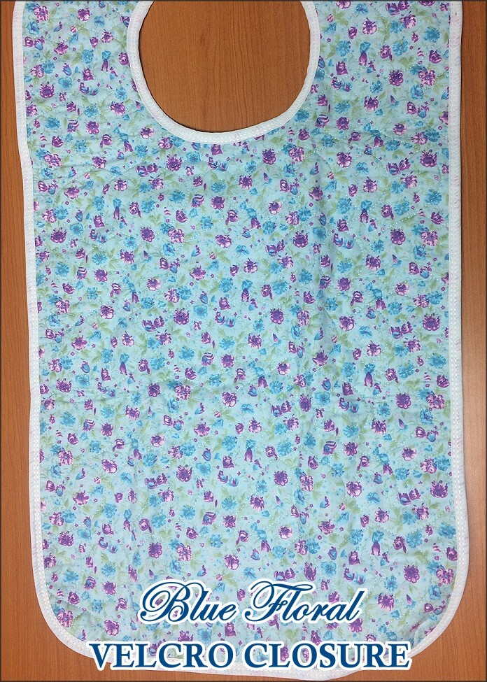 Floral Flannel Quilted Adult Bib