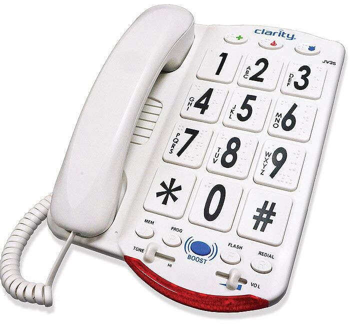 Clarity JV35W Talking Telephone with Braille