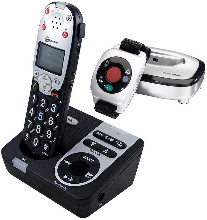 Amplicom Cordless Amplified Handset with Wrist Shaker