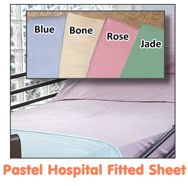 pastel color hospital fitted sheets