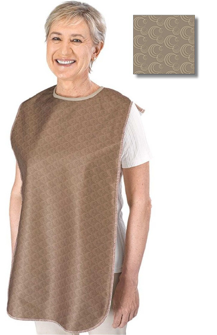 Tan Paisley Clothing Protector for Seniors
