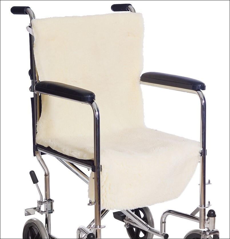 synthetic sheepskin wheelchair cover