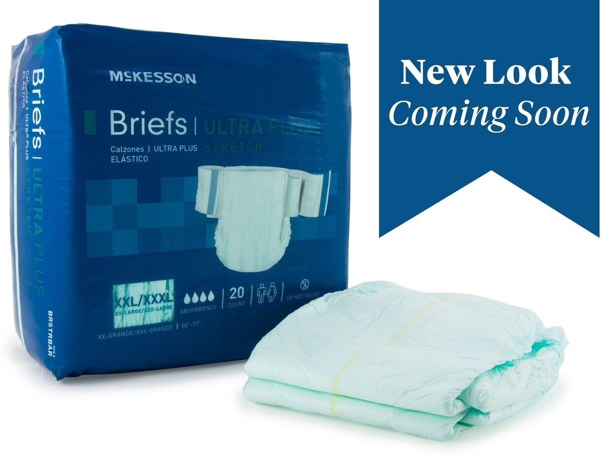 McKesson 2x - 3x adult briefs diapers