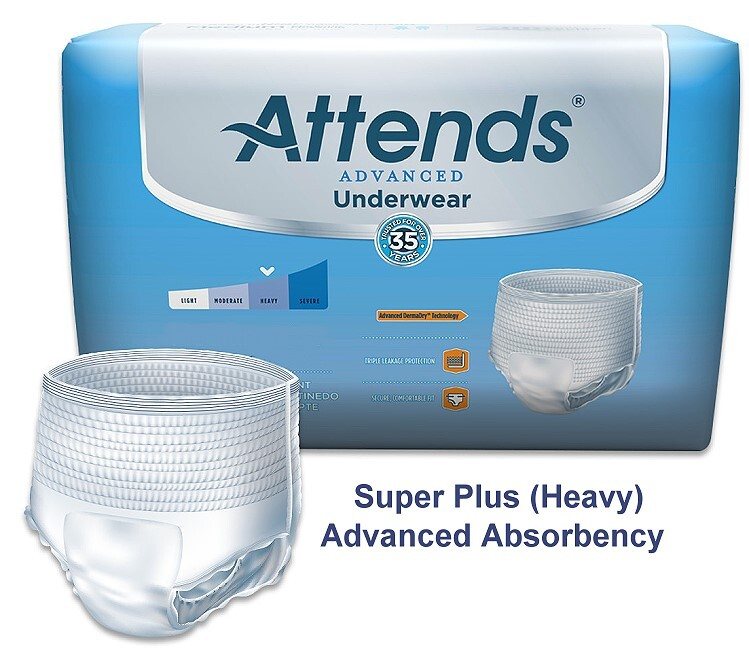 attends advanced super plus pull on underwear