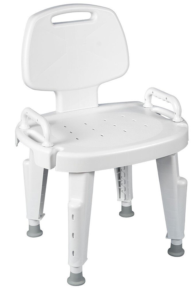 bath chair with backrest and arms