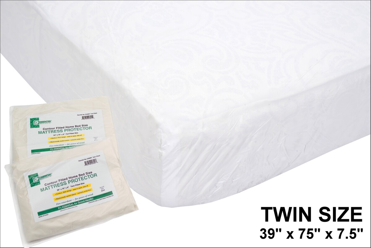 Twin Size Vinly Mattress Cover with elastic
