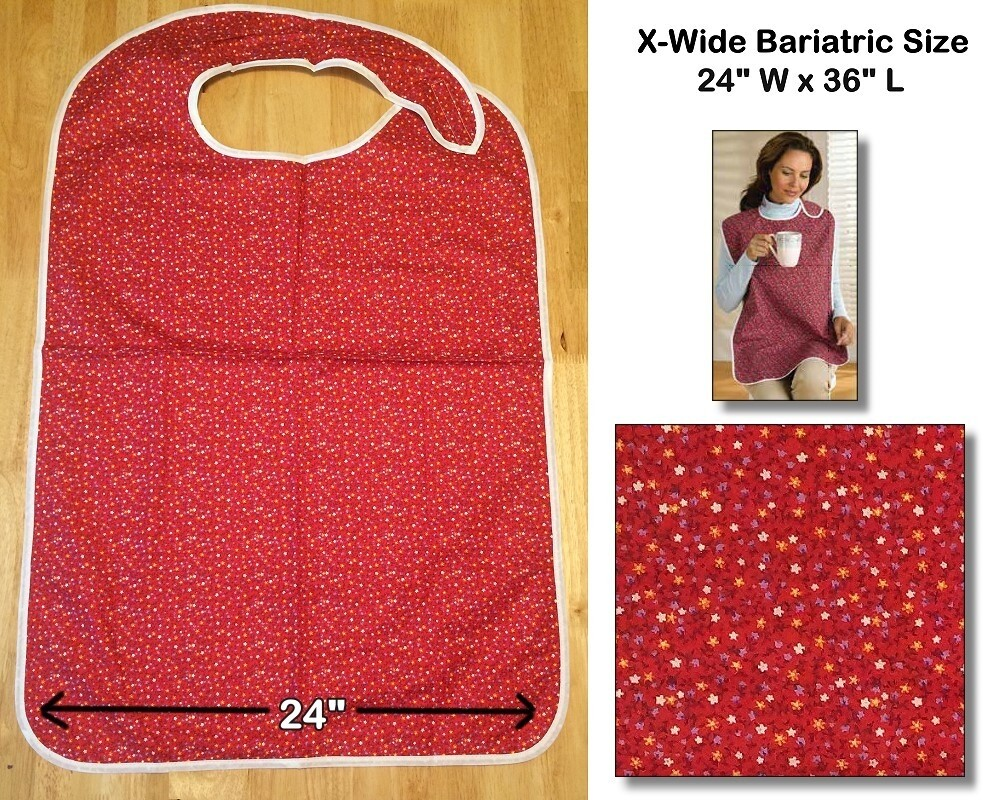 Bariatric Size Adult Bib , Extra Wide Clothing Protector for Adults