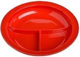 Red Partitioned Dish
