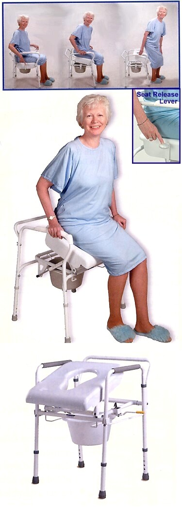 uplift lifting commode chair