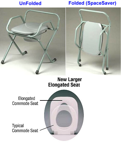 spacesaver folding commode