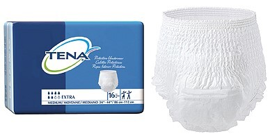 tena protective underwear small bag