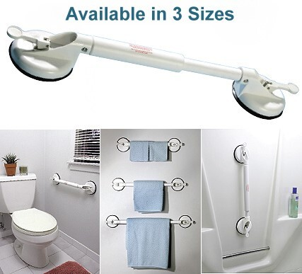 adjustable suction cup grab bar
