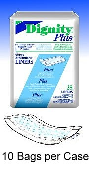Dignity Plus Liners - 10 Per Case