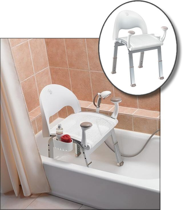 Premium Bath Chair with Support Arms