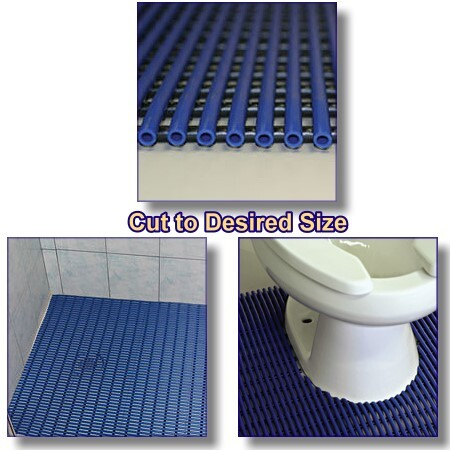 sure step cushioned PVC bath mat