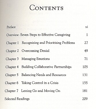 table of contents - page 1