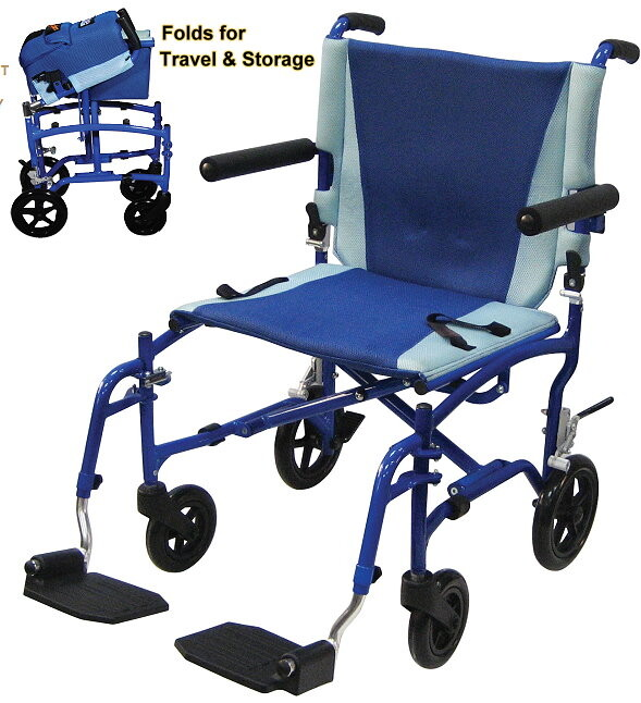 sporty and lightweight transport chair