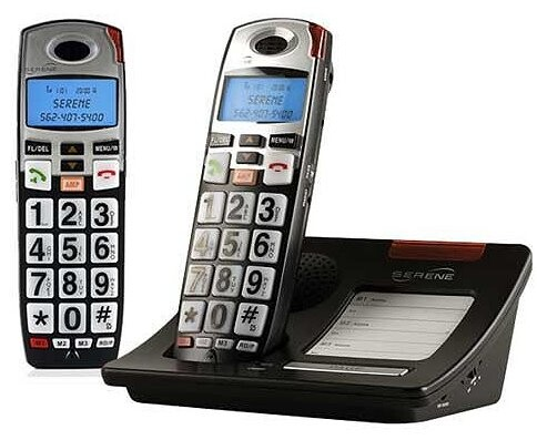 best cordless phones for senior citizens iPhone Silver