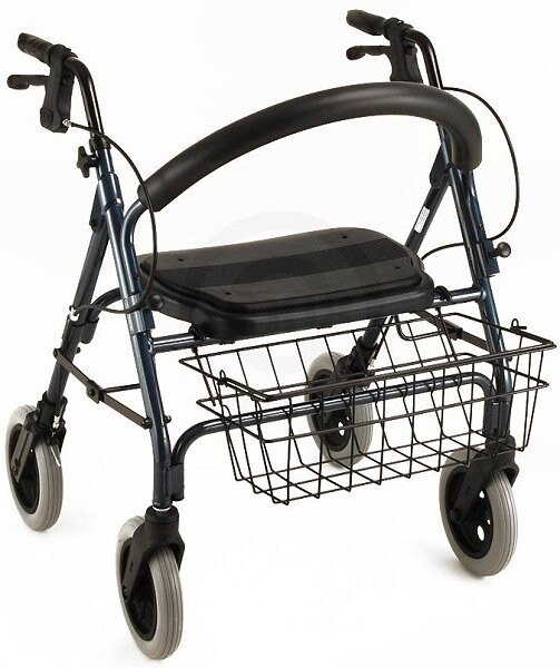 Mini Mack Rollator and Rolling Walker Blue