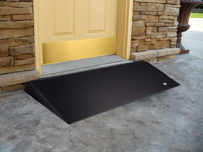 Rubber Threshold Ramp w Beveled Sides