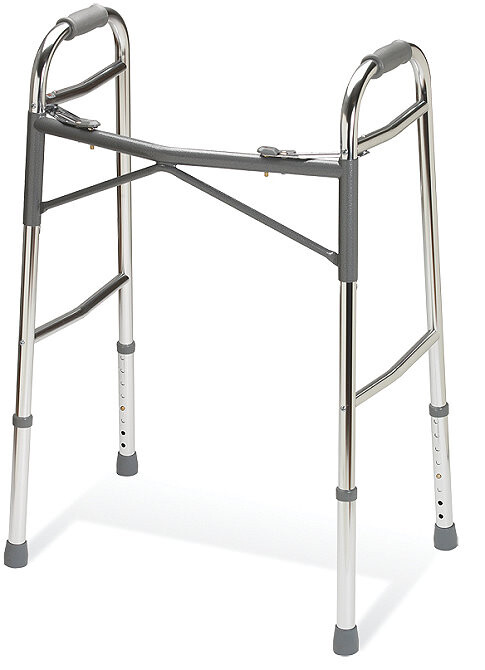 heavy duty V brace or K brace folding walker