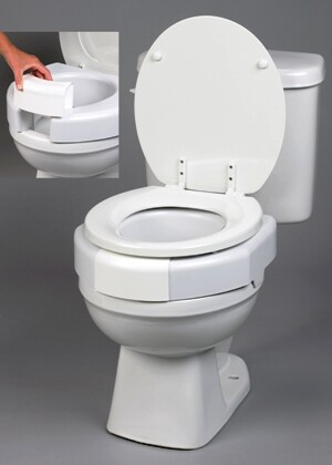3 Elevated Secure Bolt Toilet Seat Standard Size