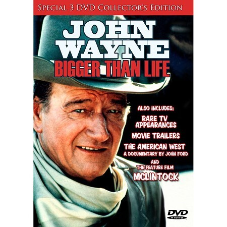 John Wayne: Bigger Than Life - 3 DVD Box Set 874757039299