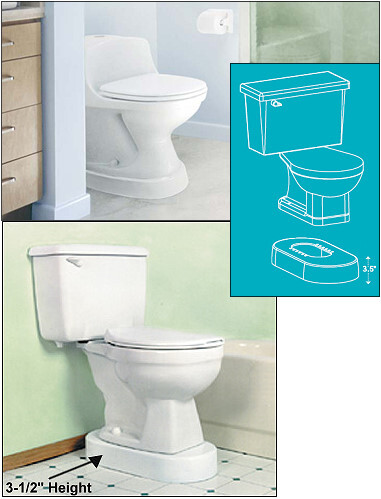 Toilevator grande toilet base riser for Grande commode