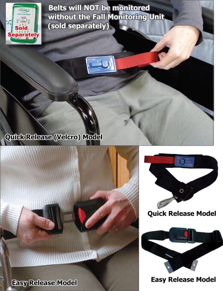 Early Warning Wheelchair Belts with Alarm