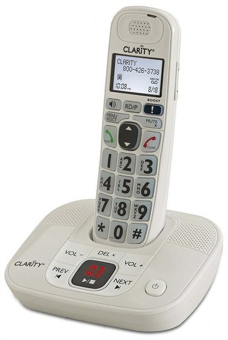 Clarity D714 Low Vision and Amplied Cordless Phone with Answering Machine