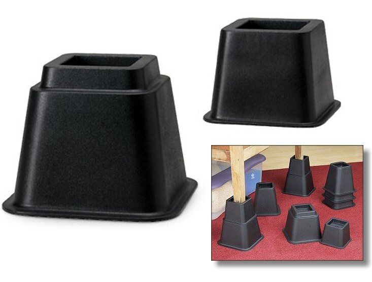 Bed and chair risers furniture risers for Furniture risers