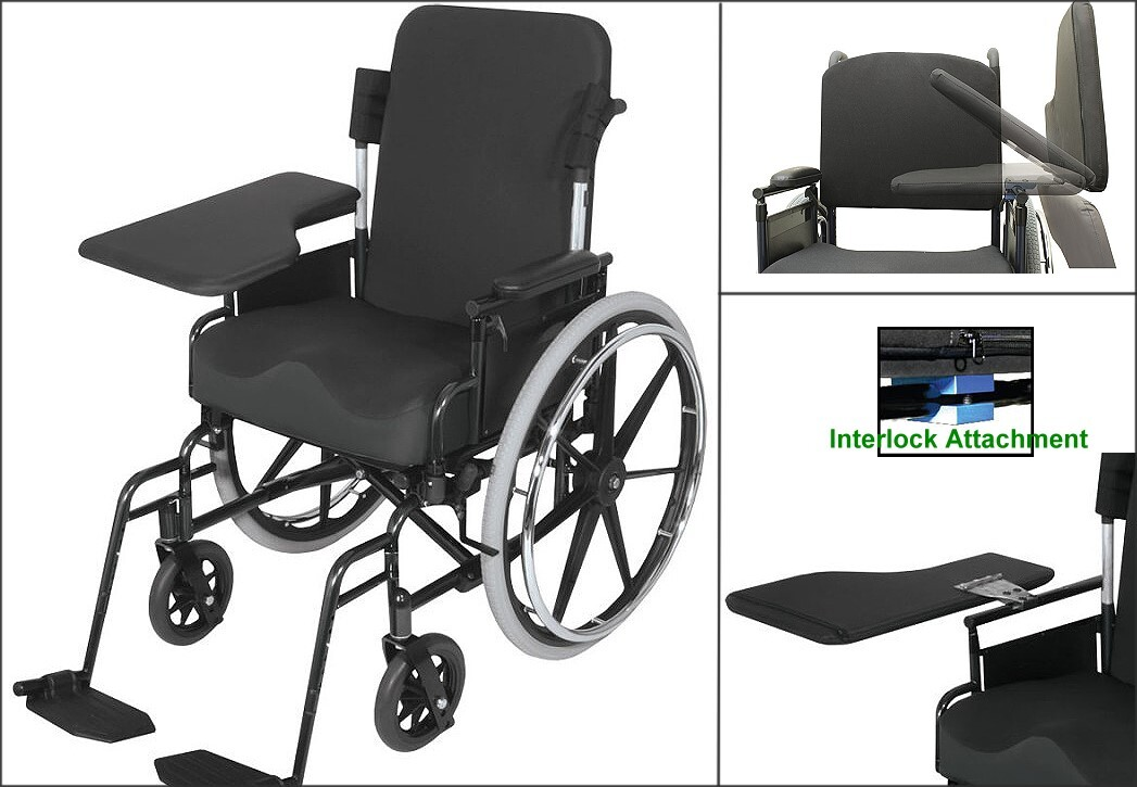 Flip Up Half Lap Wheelchair Tray
