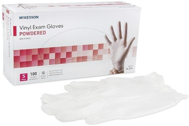 Vinyl Powdered Medical Gloves, Small