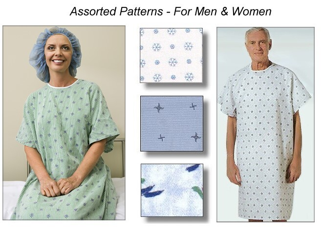 Standard Hospital Gown or Patient Gown for Men and Women
