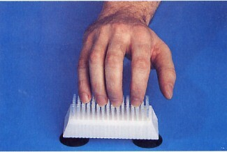 fingernail brush with suction