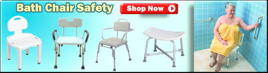 Quality Bath chairs and shower seats for senior safety while bathing.