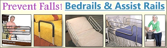 Mobility Bedrails and assist rails for hospital, home care or adjustable beds.