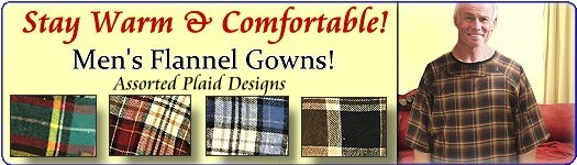 Soft & Cozy Men's Flannel Hospital Gowns for Seniors.