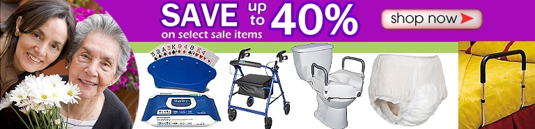 Discounted home healthcare medical supplies and home health care products on sale for seniors, the elderly, disabled persons and their caregivers