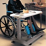 Carex Overbed Table for Home Use, U-Base